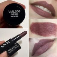 Ruj de buze mat NYX Velvet Matte Lipstick 08 Duchess
