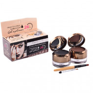 Set tus eyeliner gel + fard sprancene Kiss Beauty eyebrow&eyeliner gel