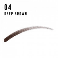 Creion sprancene Max Factor Real Brow Fill & Shape, 04 Deep Brown