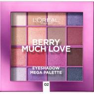 Paleta farduri de ochi Loreal Berry Much Love Mega Palette