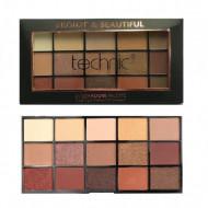 Paleta farduri de pleoape Technic Bronze & Beautiful, 15 culori
