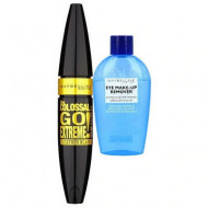 Set machiaj : Mascara Maybelline The Colossal Go Extreme + Demachiant ochi Maybelline