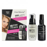 Set primer machiaj Kiss Beauty PRO Setting HD baza machiaj + spray fixare