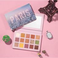 Trusa 15 farduri de pleoape Focallure Go Travel, #1 Hi Paris
