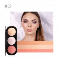 Paleta pudre iluminatoare si bronzer, Focallure Blush & Highlighter 03