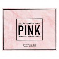 Trusa 12 farduri de pleoape Focallure The Pink Collection