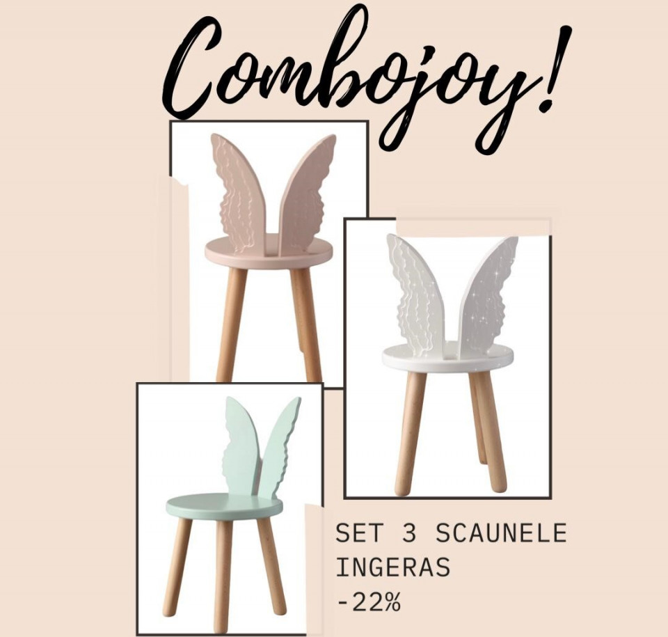 COMBOJOY - 3 SCAUNELE INGERAS