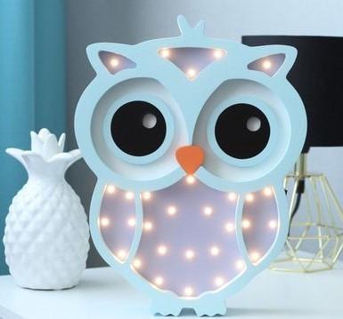 Lampa de veghe Pink Owl