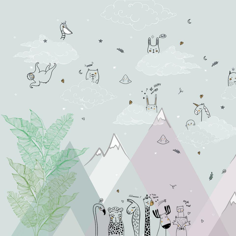 Tapet- white mountain