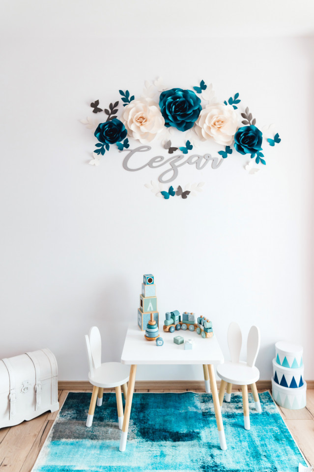 Flori decorative arcada cu nume
