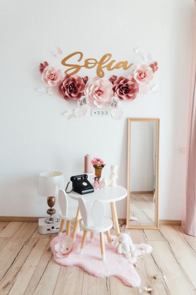 Flori decorative arcada pink cu nume