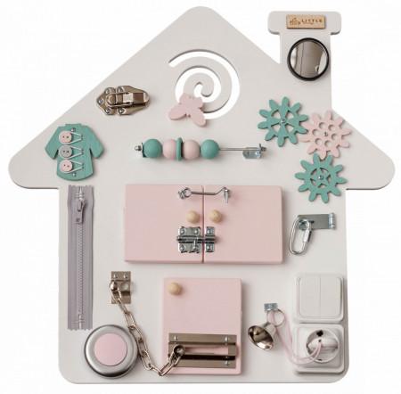 Placa activitati- casuta roz-turcoaz