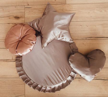 set baldachin alb cu saltea de joaca si 3 perne decorative