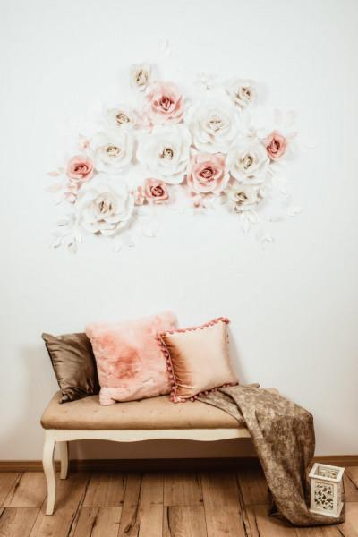 Flori decorative white