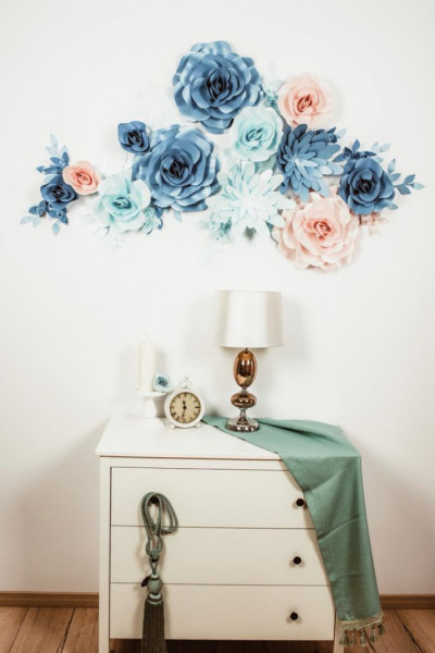 Flori decorative sky blue