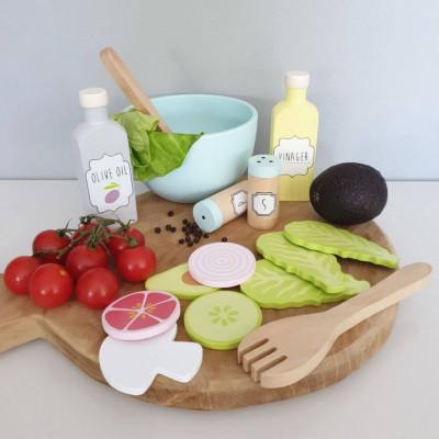 Set salata din lemn