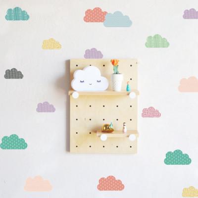 Sticker Bunte Clouds