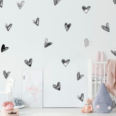 Sticker Metallic Hearts
