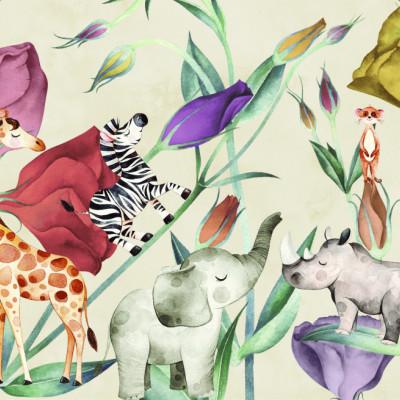 Tapet Flower Safari