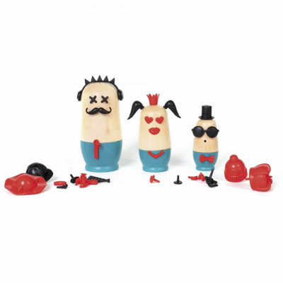 Joc din lemn Kipod Toys - MY 3 JOSHKA - Personaje