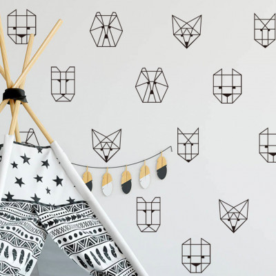 Sticker Origami Animals