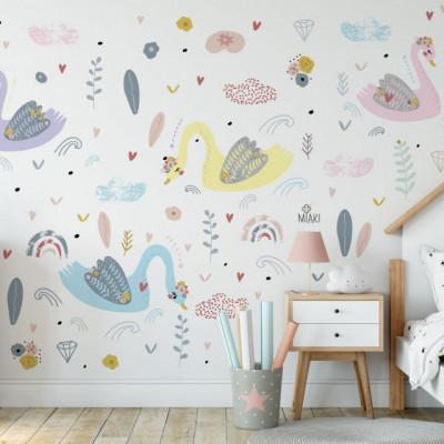 Stickers Pastel Swans