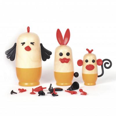 Joc din lemn Kipod Toys - MY 3 JOSHKA - Animale
