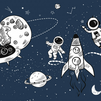 Tapet Hello Space