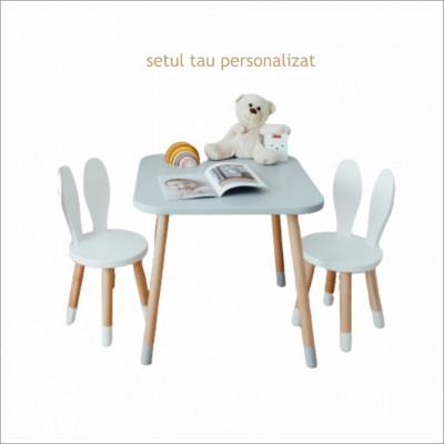 Configureaza setul tau preferat cu scaunele iepuras