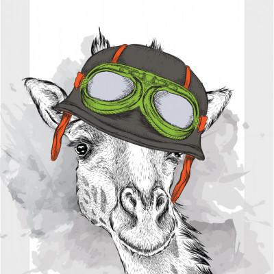 Tablou Aviator Giraffe