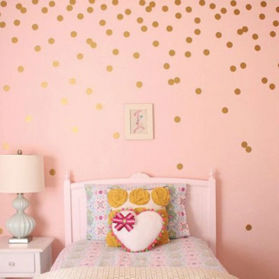 GOLD IRREGULAR DOTS 3 CM, set 240 buc