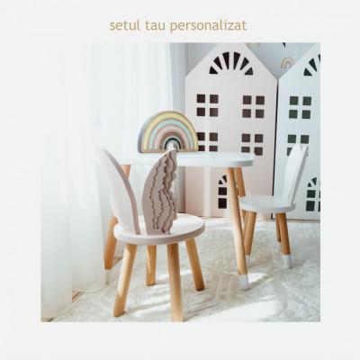Configureaza setul tau preferat cu scaunel ingeras si iepuras
