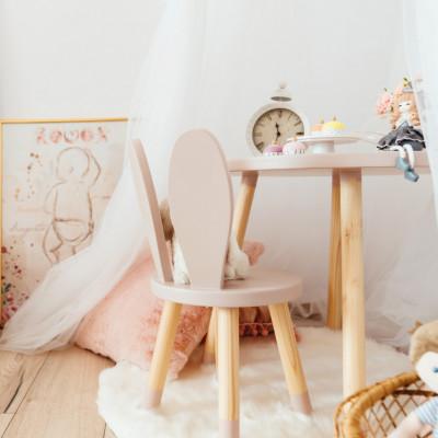 scaun iepuras roz pastel