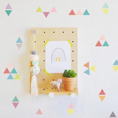 Sticker Triangles in Colors