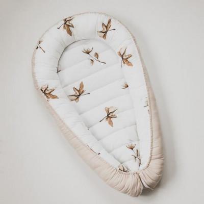 Reversible Babynest Cotton Flowers simplicity