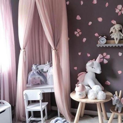 set baldachin roz cu saltea de joaca si 3 perne decorative