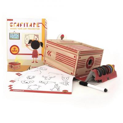 Joc proiector din lemn Grafitape, Kipod Toys