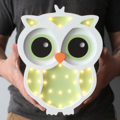 Lampa de veghe Green Owl