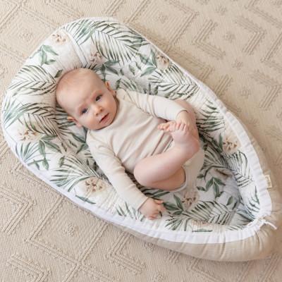 Reversible Babynest Jungle meets Linen