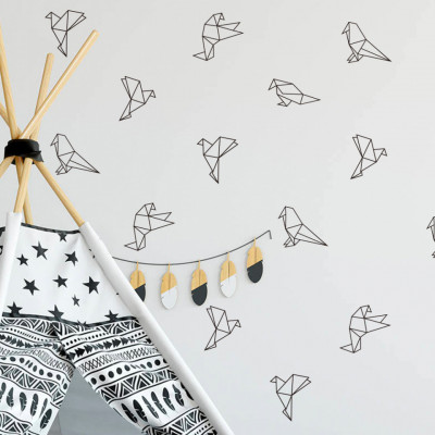 Sticker Origami Birds