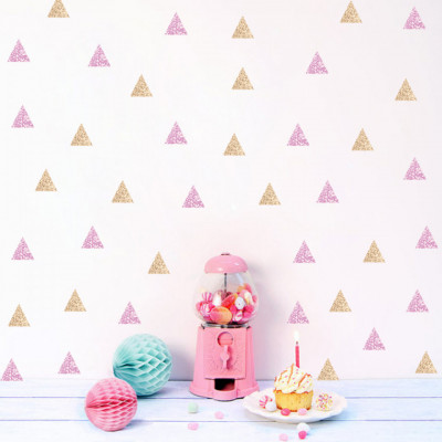 Sticker Pink and Gold Triangles