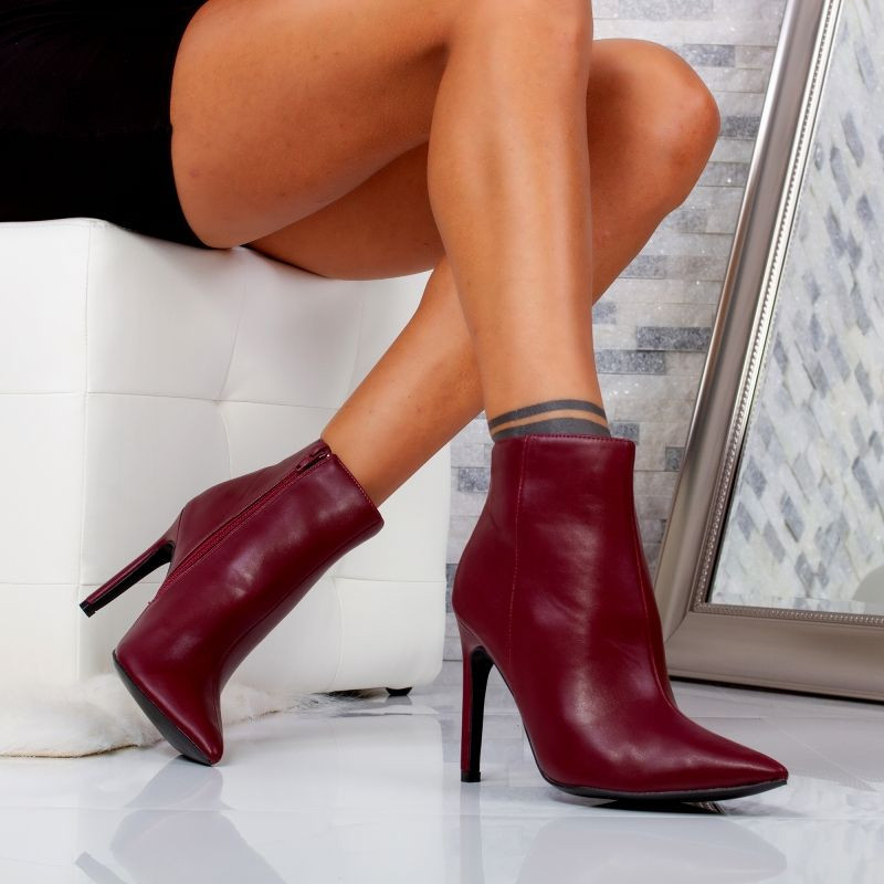 "Botine ""MireaFashion"" Cod: 5505-6 CLARET (R9-12)"