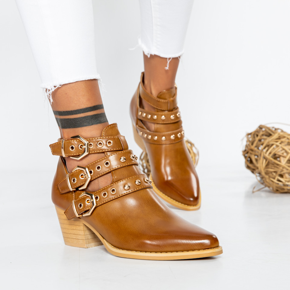 "Botine ""MireaFashion"" cod: 9476 CAMEL (L12)"