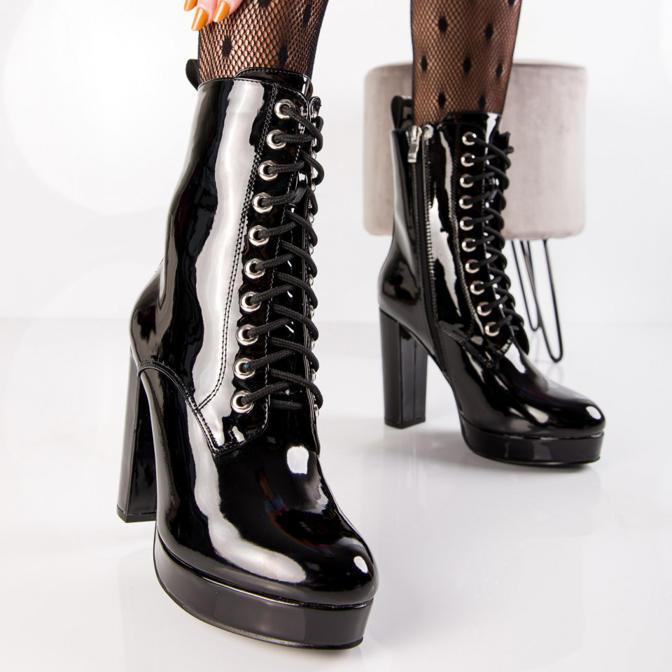 "Botine ""MireaFashion"" Cod: K150 BLACK (i9)"