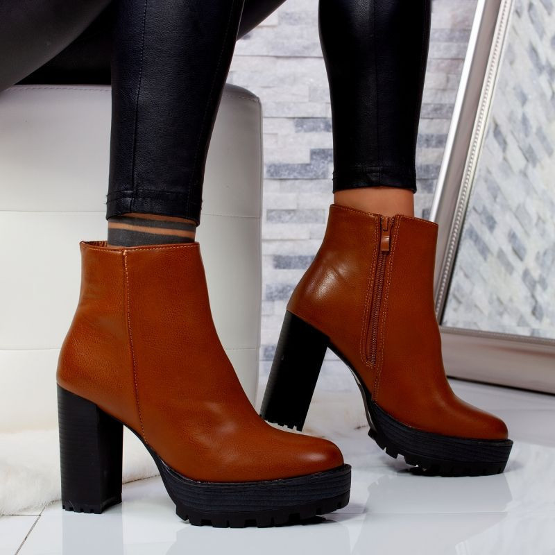 "Botine ""MireaFashion"" Cod: OM300-5 CAMEL (S14-15)"