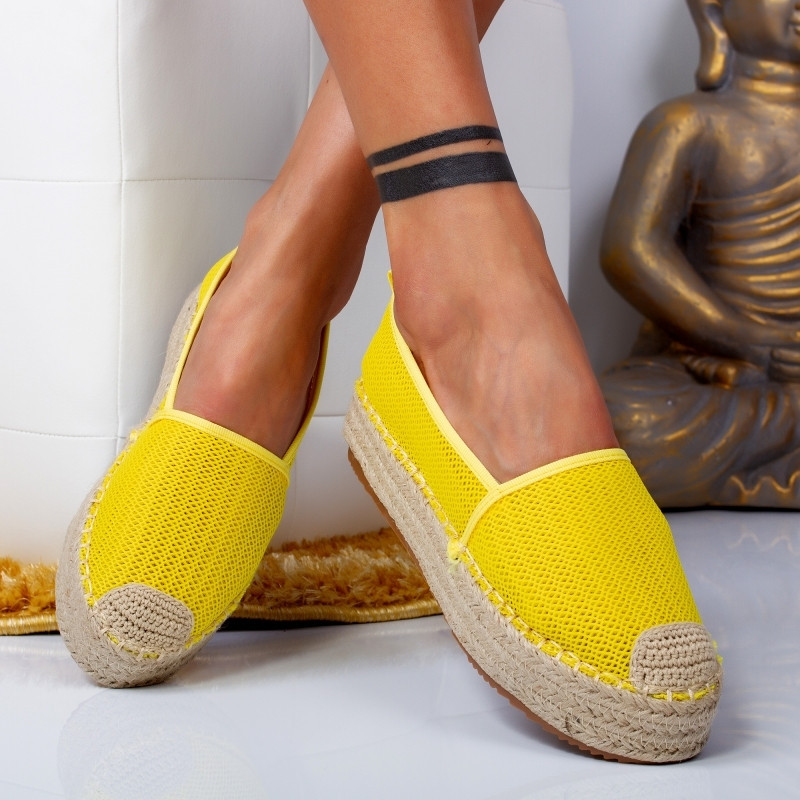 "Espadrile ""MireaFashion"" Cod: 00121 YELLOW (B3)"