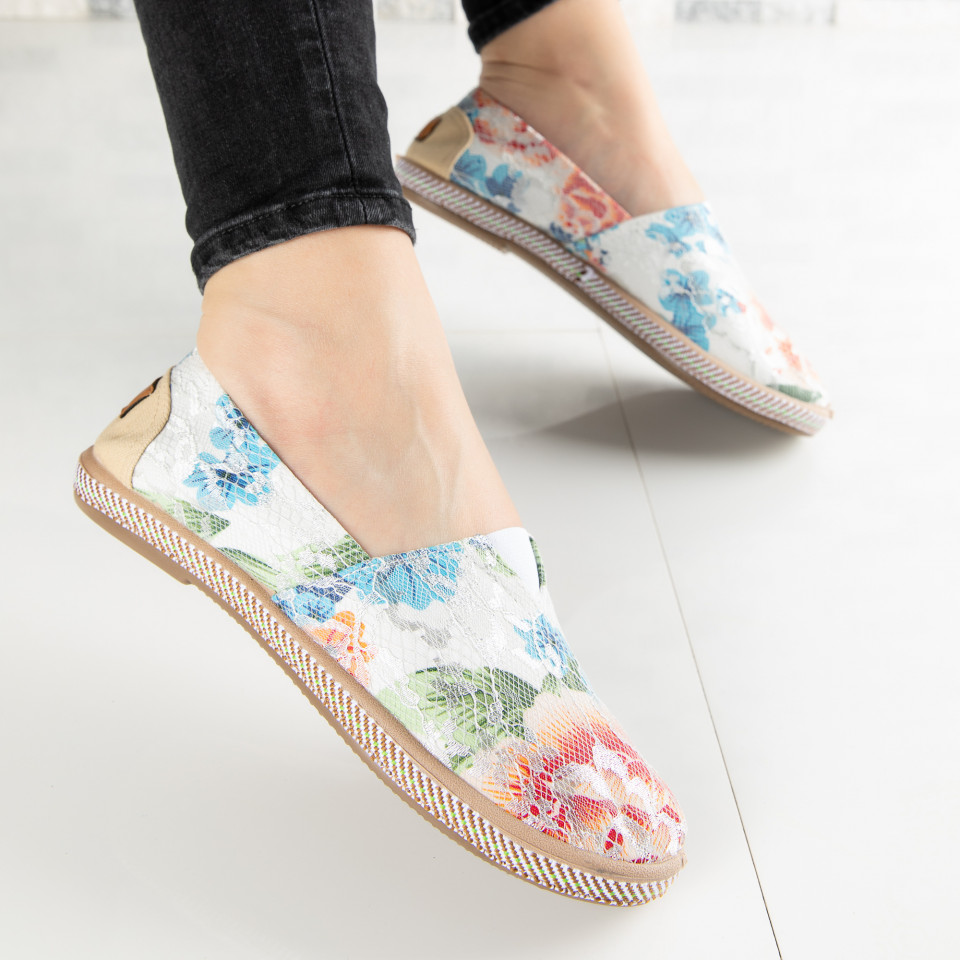 "Espadrile ""MireaFashion"" Cod: 316 WHITE (F14)"