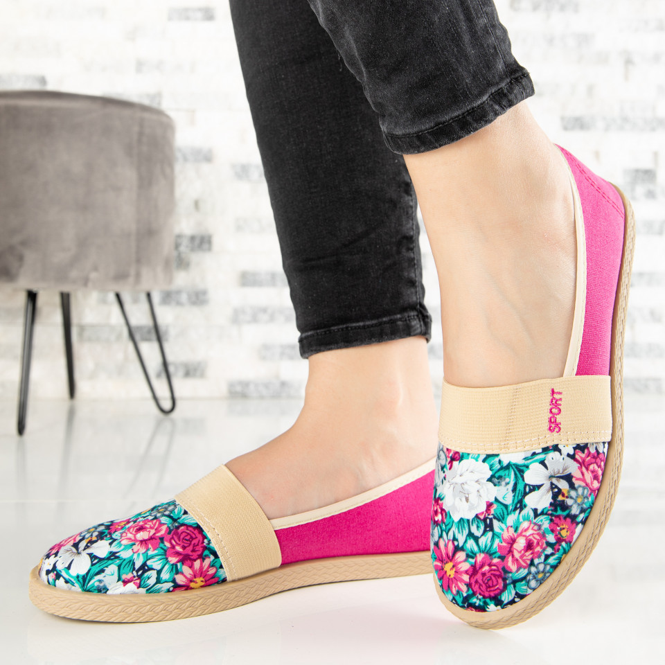 "Espadrile ""MireaFashion"" Cod: 331 FUCHSIA (H12)"