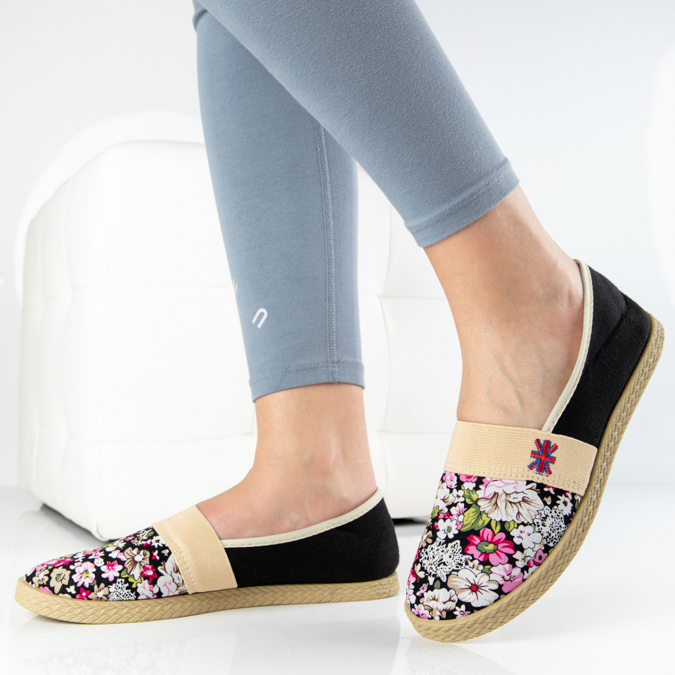 "Espadrile ""MireaFashion"" Cod: 345 BLACK (E16)"