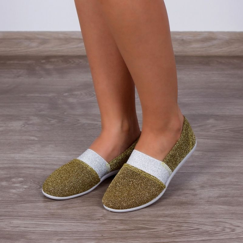 "Espadrile ""MireaFashion"" Cod: C-362 Gold (NN 2)"